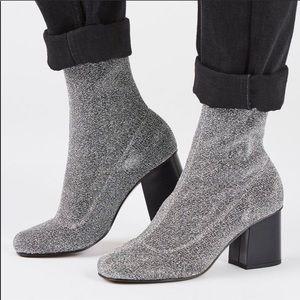 TopShop Glitter Sock Bootie
